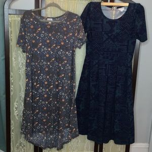 Lularoe Lot 2 Dresses Size Large